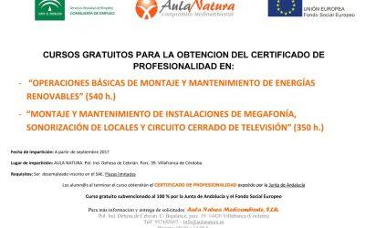 Cursos de formación para desempleados con Certificados de Profesionalidad.