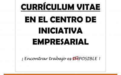 Entrega tu Curriculum Vitae en el CIE.