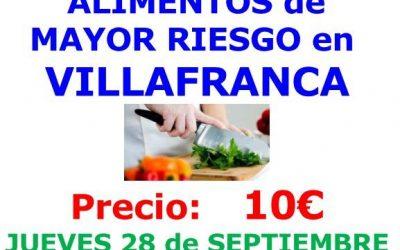 Manipulador de Alimentos de Mayor Riesgo. Día 28 de septiembre.