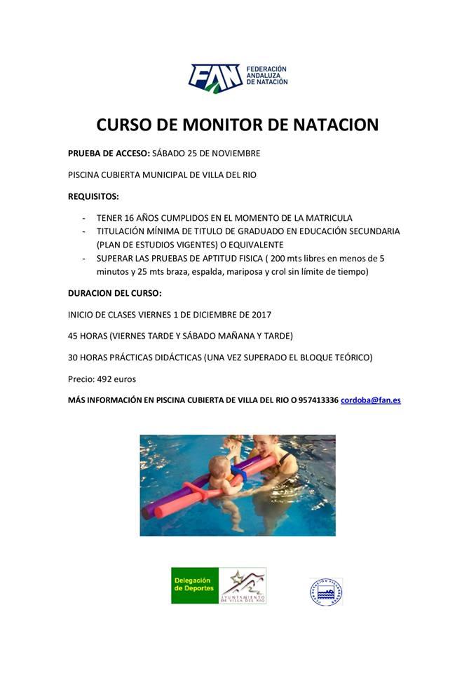 Curso de Monitor de Natación. Prueba de acceso 25 Noviembre. 1
