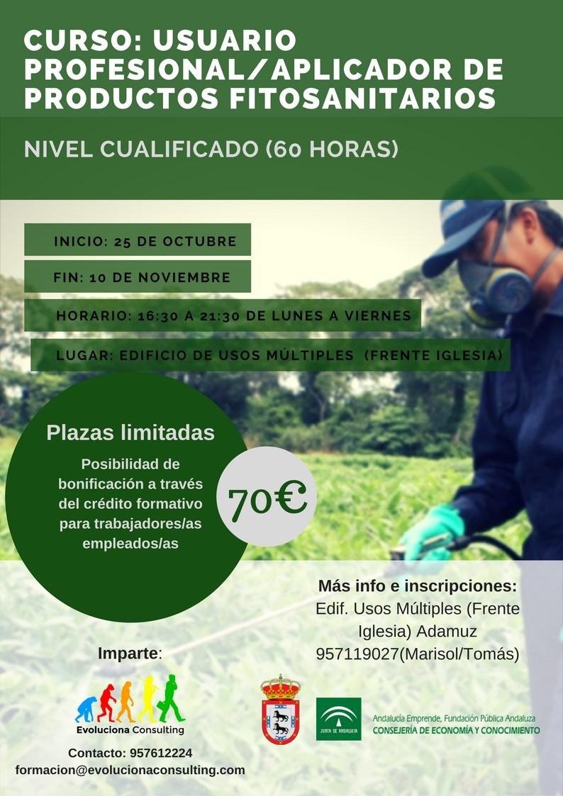 Curso: Usuario profesional / aplicador de productos fitosanitarios. 1