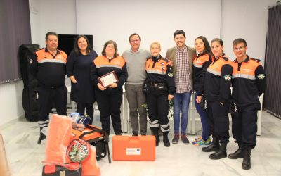 Entrega material agrupación Voluntarios Protección Civil