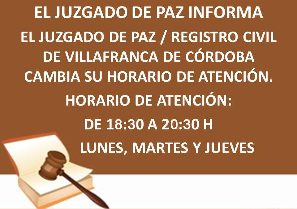 JUZGADO DE PAZ – REGISTRO CIVIL