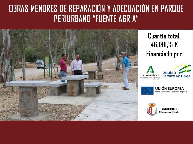 """Obras menores de reparación y adecuación en parque periurbano """"Fuente Agria y Albergue Municipal"""" 1"""